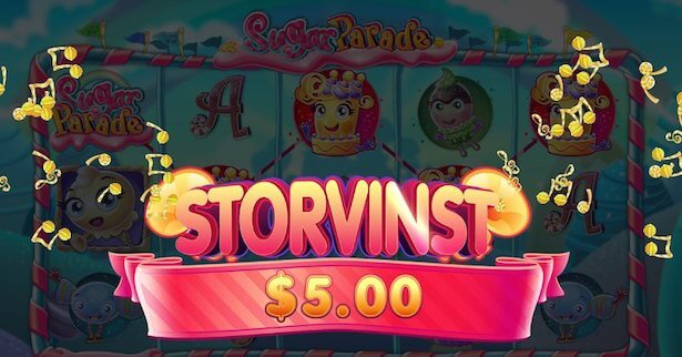 Sugar Parade Slot Vinst