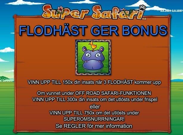 Super Safari Slot Bonus