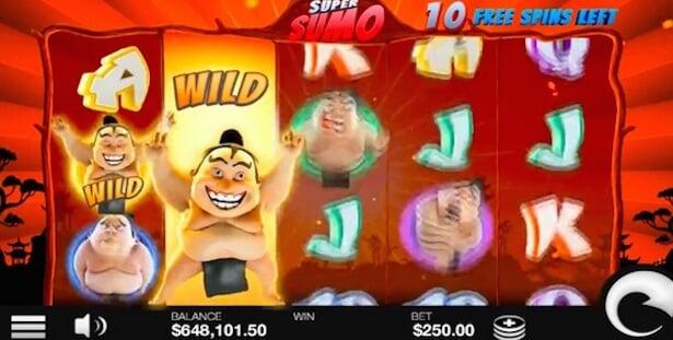 Super Sumo Slot Free Spins