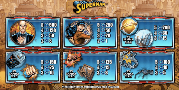 Superman Slot Bonus
