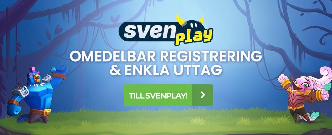 Svenplay Casino header
