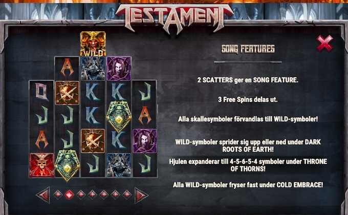 Testament Song Features