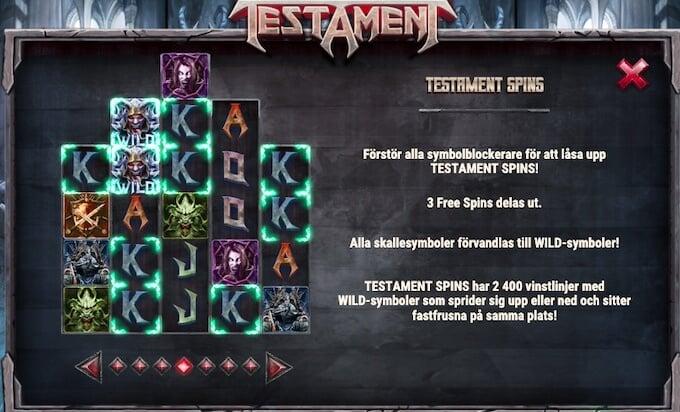 Testament Spins