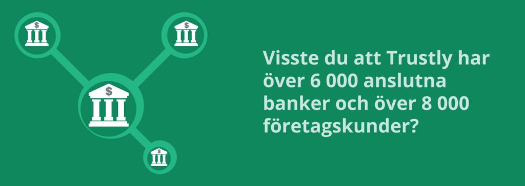 Antal banker som är anslutna till Trustly