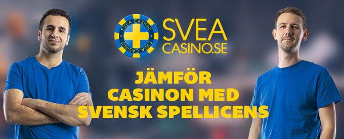 SveaCasino svensk licens header