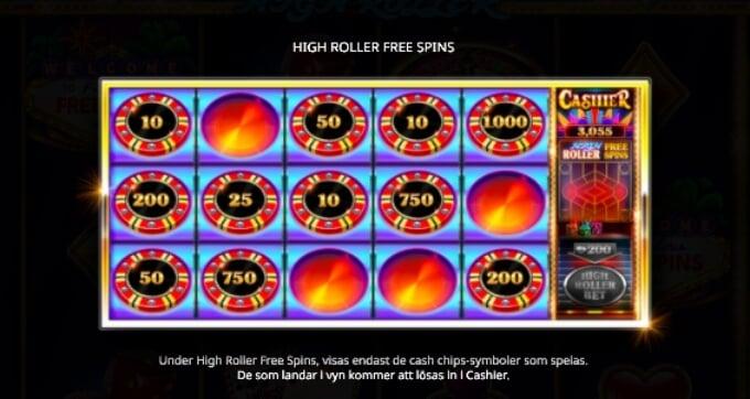 Vegas High Roller Slot Bonus Free Spins