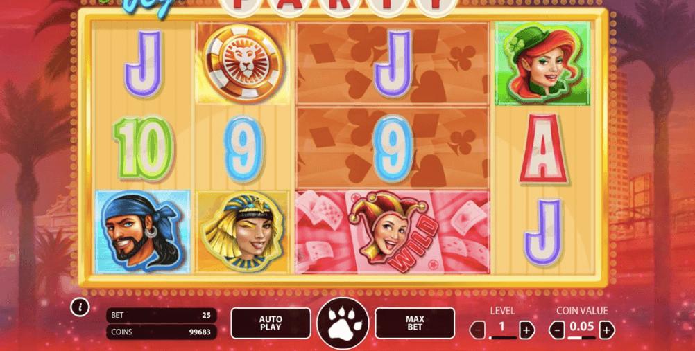Vegas Party spelplan.