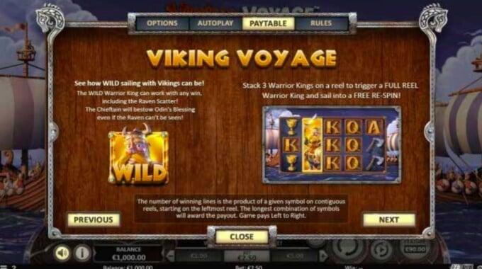 Viking Voyage Bonus Free Spins