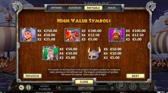 Viking Voyage Bonus 1