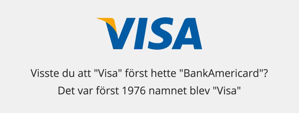 Vad hette Visa innan de bytte namn?