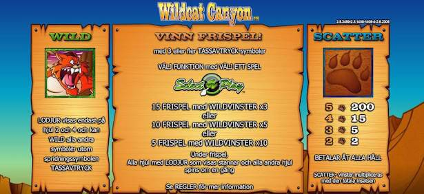 Wildcat Canyon Slot Free Spins