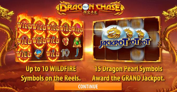 Dragon Chase bonusfunktioner