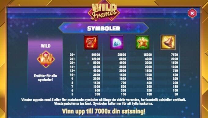 Wild Frames Bonus Wilds Symbols