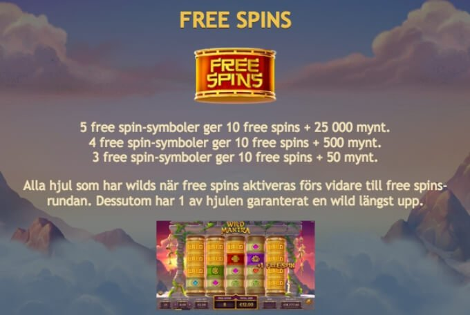 Wild Mantra Slot Bonus Free Spins