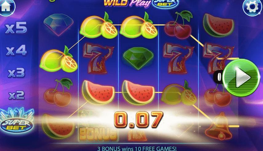 Wild Play SuperBet spelplan.