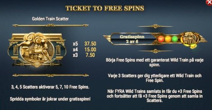 Wild Rails Slot Bonus Free Spins
