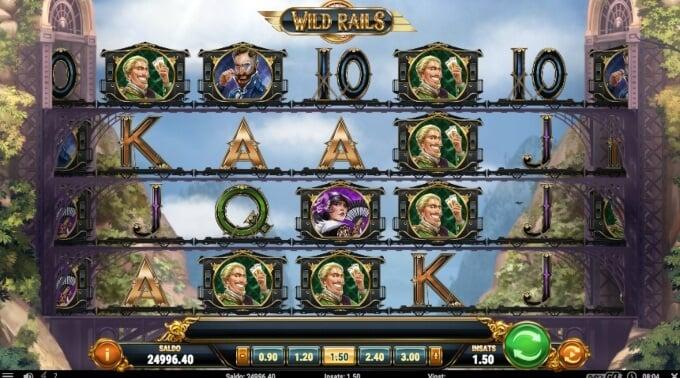 Wild Rails Slot Bonus Game