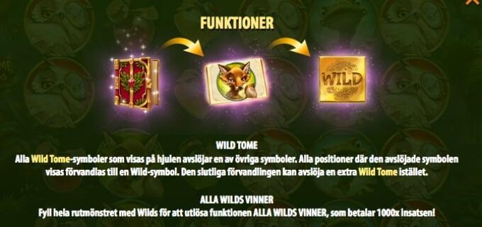 Wild Tome of the Woods Slot Bonus Free Spins
