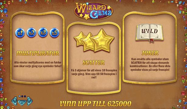 Wizard of Gems Bonus