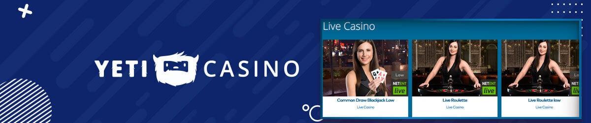 Yeti Casino Live