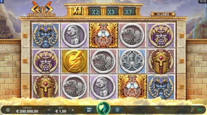 Zeus – Ancient Fortunes Slot Bonus